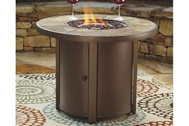 large fire pit table predmore fire pit table ashley furniture homestore