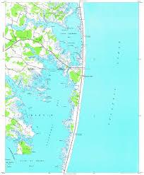 Ocean City Maryland Map Download Topographic Map In Area Of Fenwick Island Ocean City