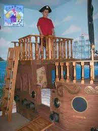 Pirate Themed Kids Room by All Hands On Deck With These Boat Beds Bunk Bed Pirate Bedroom