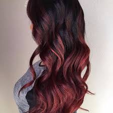 partial red highlights on dark brown hair 80 balayage highlights ideas for every hair color hair motive