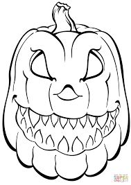 Free Coloring Pages For Halloween To Print by Scary Pumpkin Coloring Page Free Printable Coloring Pages