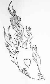 30 flame tattoo design stencils