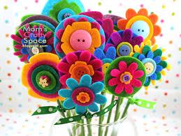 felt flowers easy s day gift felt flowers happiness is