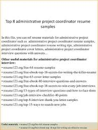 administrative coordinator resume business proposal templated