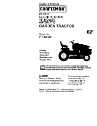 craftsman ez3 917 272960 owner s manual