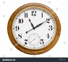 big wood wall clock on white stock photo 90006913