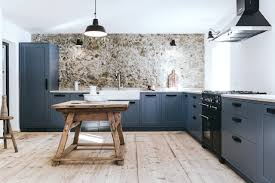light grey kitchen cabinets with black appliances 75 beautiful kitchen with blue cabinets and black appliances