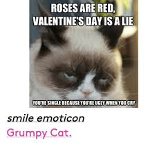 Ugly Cat Meme - rosesare red valentine s day isalie youre singlebecause youre ugly