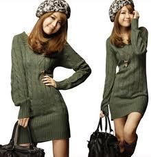 womens tunic sweaters womens sleeve warm winter knit slim plus size tunic
