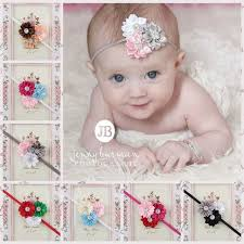 infant headbands color polygonal flower combination infant headbands satin flowers