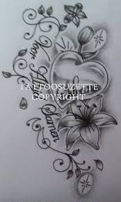 black and grey flowers with butterflies design