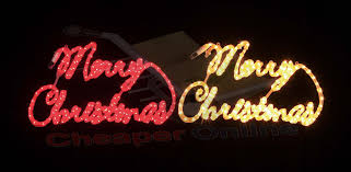 rope light merry sign lights card and decore