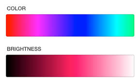 color selection touch screen color picker indicator selection marker user