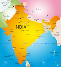 Maps Of India by Vector Detailed Map Of India Country Royalty Free Cliparts