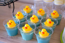 duck decorations rubber duck birthday party through clouded glass