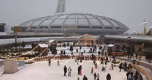 montreal s olympic stadium will a free skating rink
