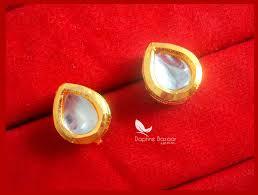 Best Gift For Women S86e Daphne Leaf Shape Kundan Tops For Women Best Gift For