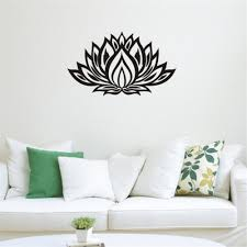 compare prices on flower design wall mural online shopping buy art design indian namaste words religion wall decal vinyl lotus yoga sticker buddha ganesha home decoration