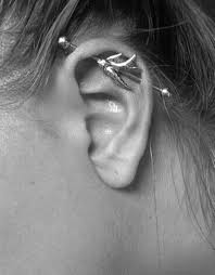 bar earring cartilage 90 classical and wackier industrial piercing ideas