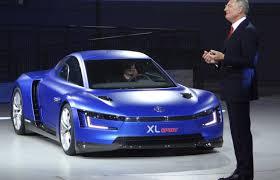 volkswagen sports car volkswagen xl sport at paris motor show the details video