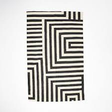 Small Black Rugs Small Scale Maze Dhurrie Rug Iron West Elm