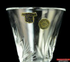 Antique Lead Crystal Vase Vintage Bohemia Lead Crystal Vase Hand Cut Sklo Czech Republic 24
