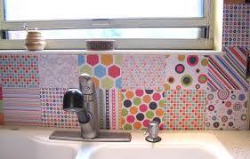 kitchen colourful themed design in cheap backsplash ideas with