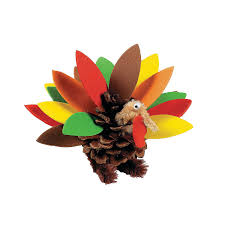 foam turkey craft pinecone and foam turkey craft kit makes 12