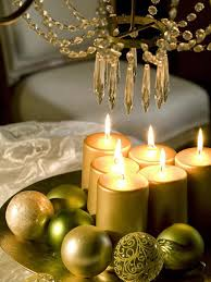 centerpieces for christmas table christmas table centerpiece gold pillar candles green tree ornaments