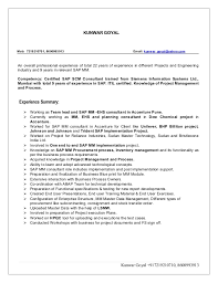 Sap Bi Resume Sample For Fresher by Sap Mm Fresher Resume Download Contegri Com