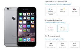 iphone 6 unlocked black friday apple begins selling unlocked sim free iphone 6 and 6 plus models