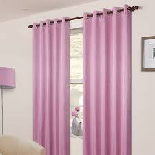 Curtains 90 Width 72 Drop Pair Of Pink Blackout Eyelet Curtains 53