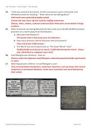 answers powerpoint auschwitz worksheet