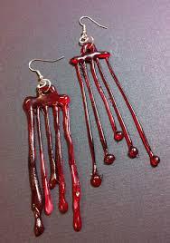 Halloween Crafts Diy Halloween Craft Glue Blood Drip Earrings Diy Halloween