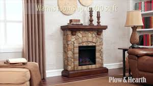 stacked stone fireplace sku 14024 plow u0026 hearth youtube