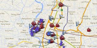Bangkok Map Bangkok Protests Map Informs Tourists Of Areas To Avoid Huffpost