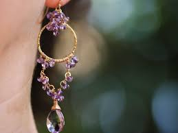 chandelier earrings pink amethyst chandelier earrings in gold filled valltasy