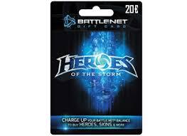 battlenet prepaid card blizzard battle net gift card 20 heroes of the edition