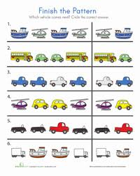 transportation patterns worksheet education com