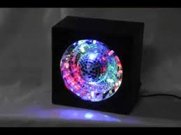 led disco ball light led rotating disco ball mirror party box light youtube