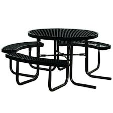 kirby built picnic tables amazon com 46 round thermoplastic coated metal supersaver