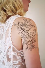 Large Flower Tattoos On - large black and white floral tattoos large