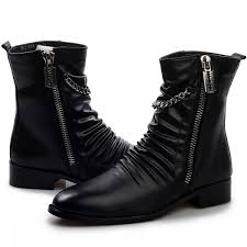 stylish womens motorcycle boots cool stylish pleated leather motorcycle ankle boots mens punk rock