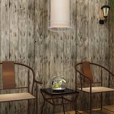 compare prices on realistic murals online shopping buy low price haokhome vintage faux wood panel wallpaper rolls khaki multi 3d realistic paper murals home bedroom living