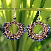 thailand earrings brass beaded quartz earrings from thailand tribal novica