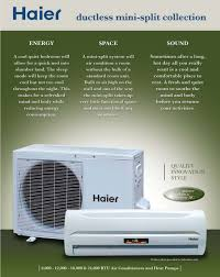 ductless mini split air conditioner the haier mini split with refrigerant r410a