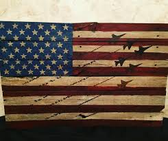 American Flag Decor Distressed Flag With Stained Aircraft Formation Aircraft Of