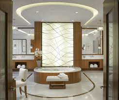 modern interior design bathroom oval soft hairy cotton carpet rain