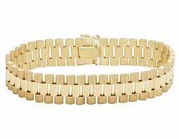 solid bracelet images Solid 10k gold men 39 s presidential style designer bracelet 14mm jpg