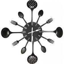 horloge cuisine horloge murale cuisine noir achat vente horloge pendule